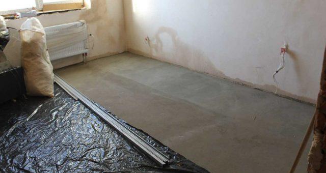 Гидроизоляция стяжки или бетонного пола в помещении