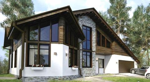 Комбинированные загородные дома
